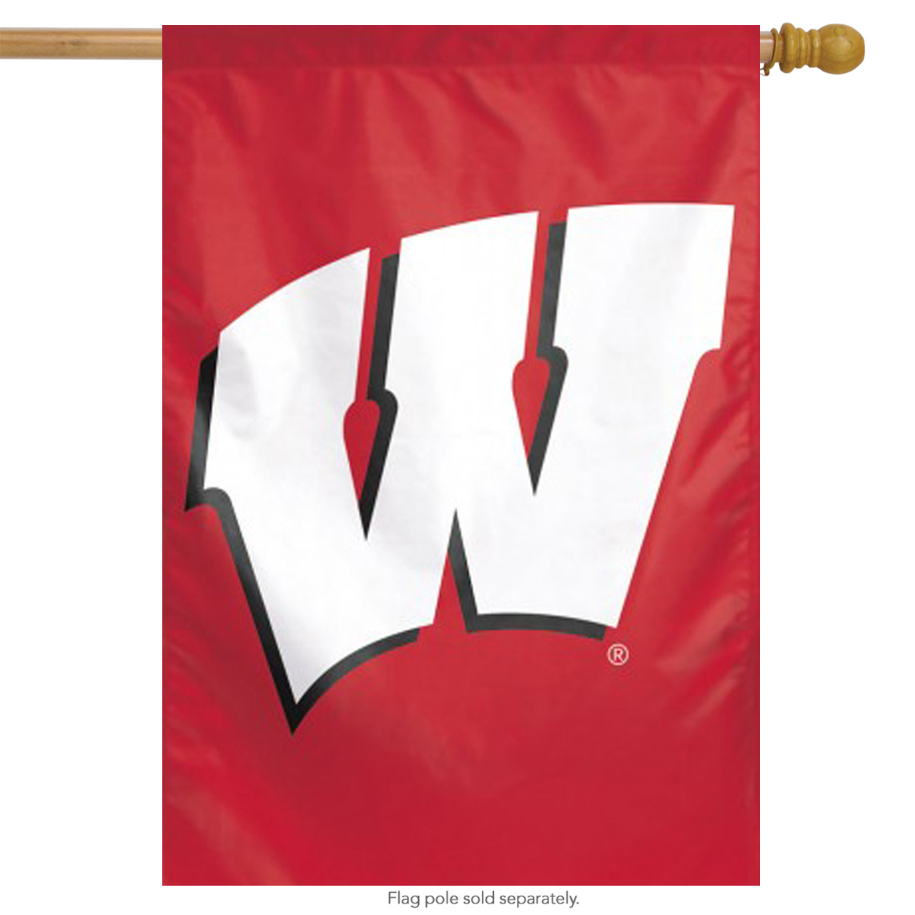 """University of Wisconsin Badgers Vertical House Flag NCAA Licensed 28"""" x 40"""""""