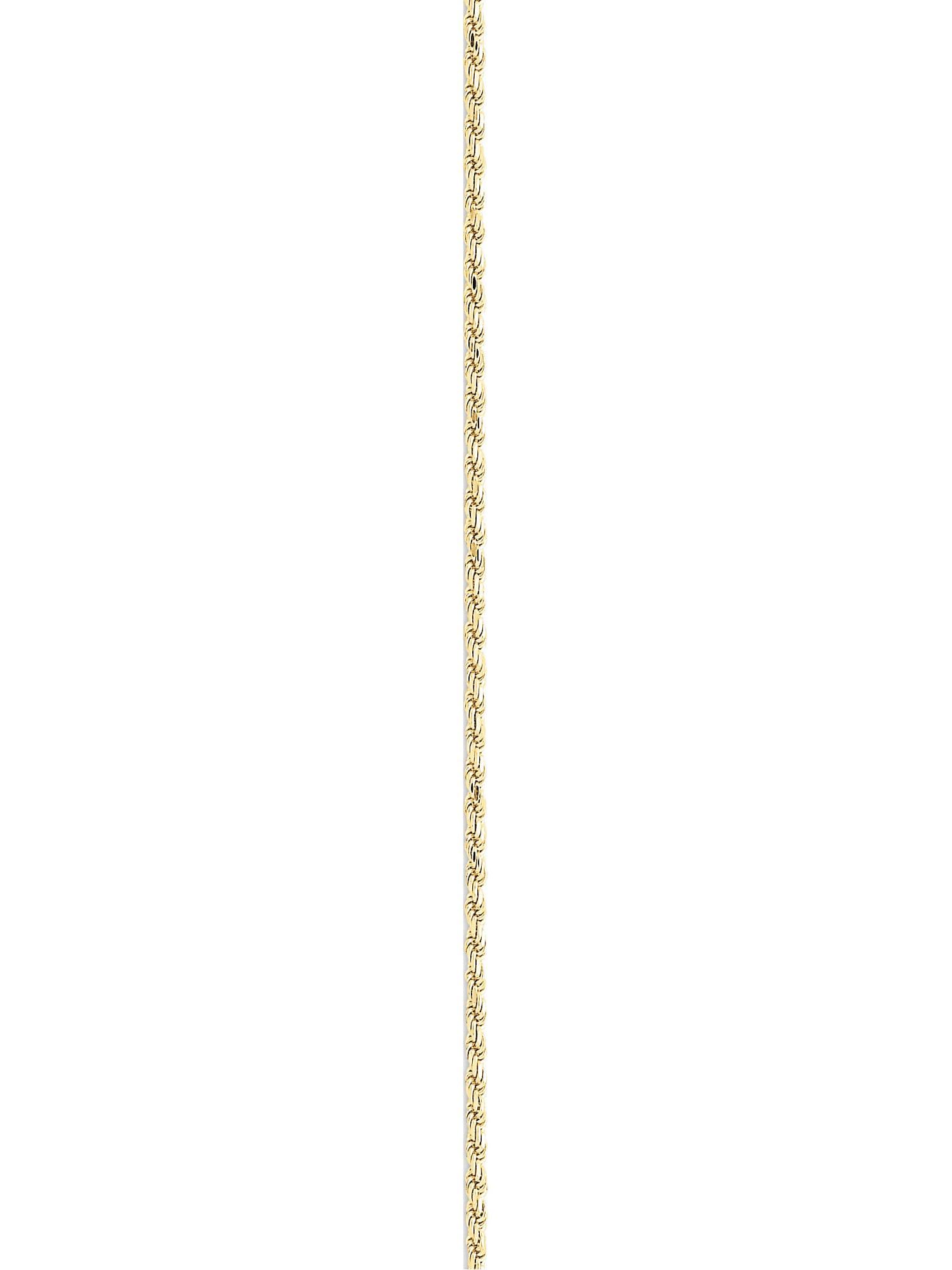 b46e1b9fece 10k Yellow Gold 2mm Machine Made Diamond Cut Rope Chain