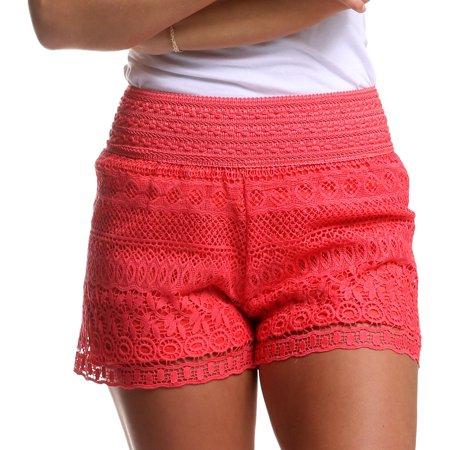 New Mix Plus Size Crochet Lace Shorts Walmartcom