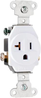 20a 125v White 2 Pole 3 Wire Grounding Heavy Duty Single Outlet 4pk. 20a 125v White 2 Pole 3 Wire Grounding Heavy Duty Single Outlet 4pk. Wiring. Wiring Single Pole 20a Outlet At Scoala.co