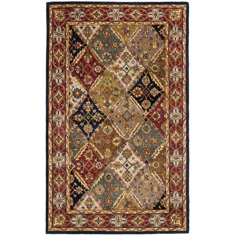 Safavieh Heritage 12' X 15' Hand Tufted Wool Pile Rug in Green and Red