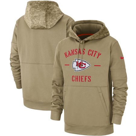Kansas City Chiefs Nike 2019 Salute to Service Sideline Therma Pullover Hoodie - (Kansas City Chiefs Salute To Service Gear)