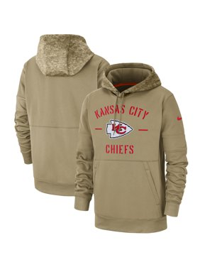 Kansas City Chiefs Nike 2019 Salute to Service Sideline Therma Pullover Hoodie - Tan