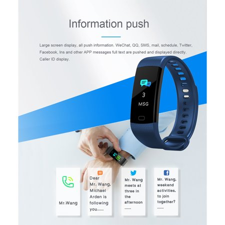 Fitness Tracker with Heart Rate Monitor Color Screen Waterproof Smart Watch Band Activity Tracker w/ Step Counter Pedometer Calorie Counter for Android iOS - image 12 of 13