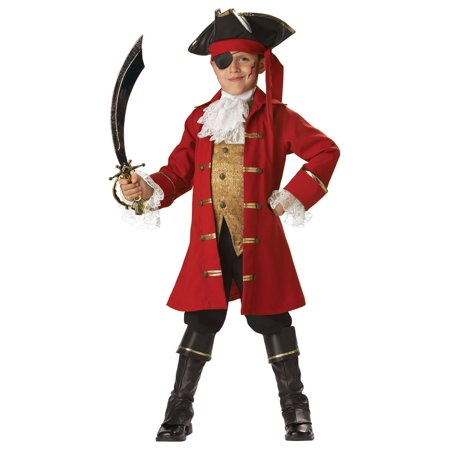 Super Deluxe Pirate Captain Kids Costume