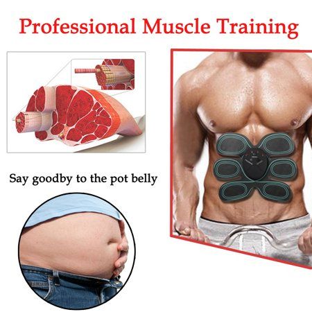 6 Modes Electric Abs Muscle Stimulator Patch Training Body Shape Fit Set Fitness Massage Home Trainer - image 8 de 14