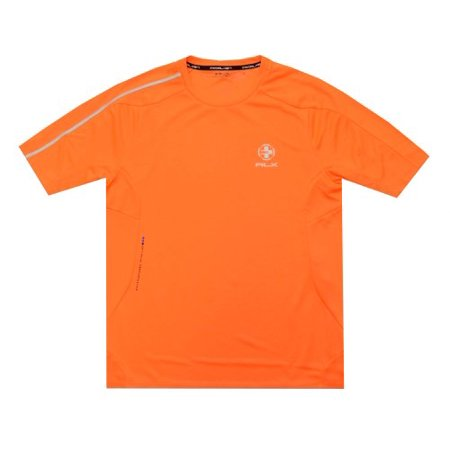 RLX Ralph Lauren Men Crewneck Tee (S, Safety Orange)