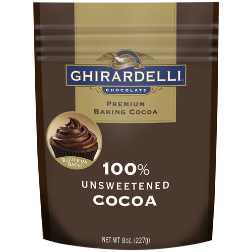 Ghirardelli�� 100% Unsweetened Baking Cocoa 8 oz. Stand-up Bag