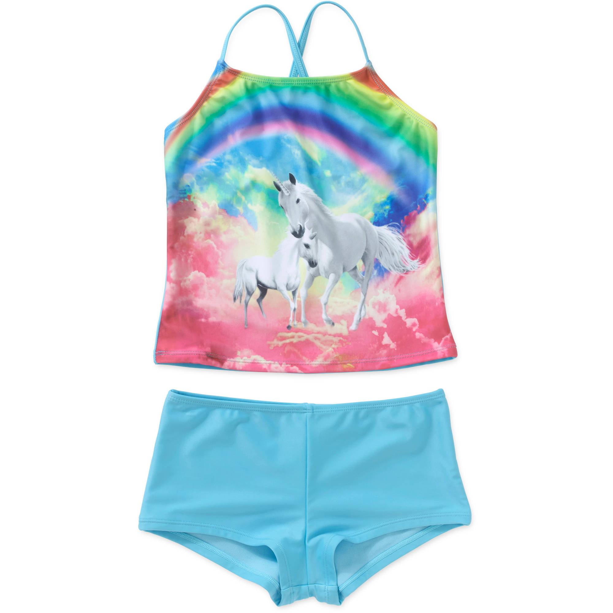 f732e1eab7cf0 OP - Girls' Hawaii Surf Tankini Swimsuit - Walmart.com
