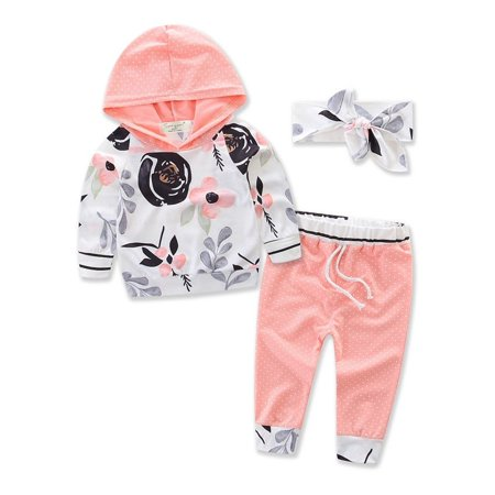 3pcs Lovely Baby Toddler Infant Newborn Baby Boy Girl Outfit Soft Catton Fashion Baby Girl T-shirt Tops+Pants Outfits Set Clothes (Girl Boy Girl Boutique)