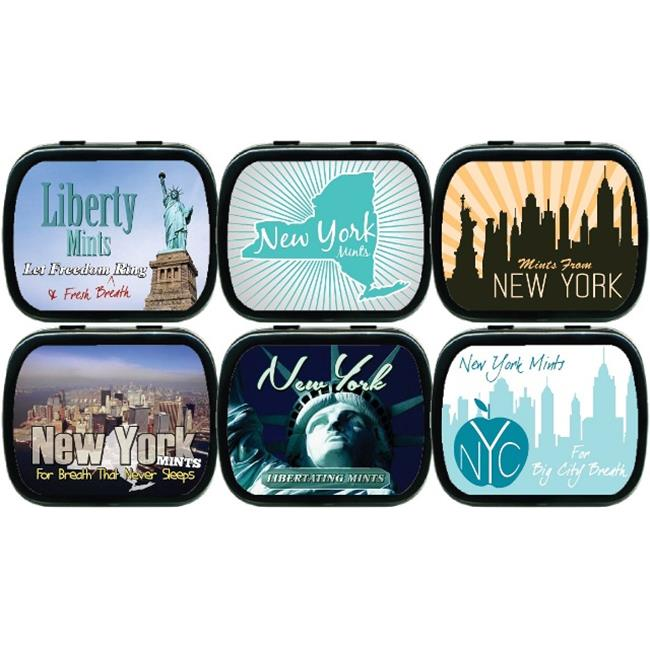 The MintBox PM-BLKSE2369 New York Mint Tins  24 Pack  3 Designs