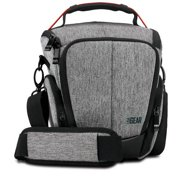 USA GEAR UTL Camera Case Bag with Smooth Streamlined Shape, Soft Cushioned Interior and Side Storage Pockets - Works Great for Sony , Olympus , Fujifilm and More Cameras