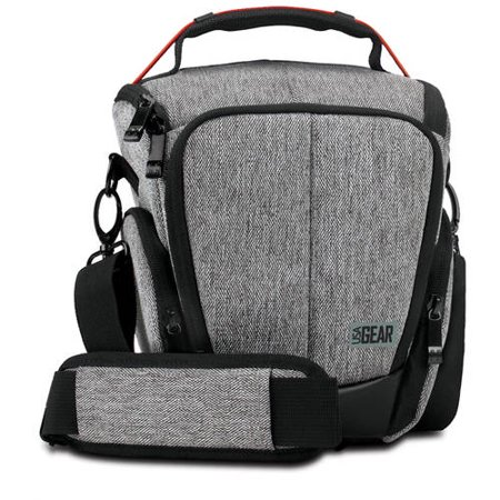 USA GEAR UTL Camera Case Bag with Smooth Streamlined Shape, Soft Cushioned Interior and Side Storage Pockets - Works Great for Sony , Olympus , Fujifilm and More Cameras Prada Camera Bag