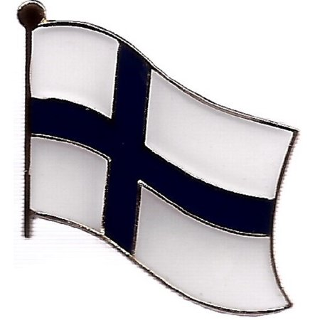 PACK of 3 Finland Single Flag Lapel Pins, Finnish Pin Badge