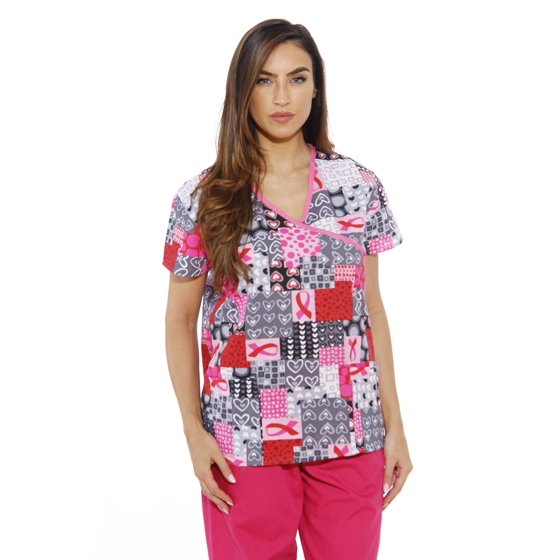 62cc013e3d3 Just Love - 216VG-1-XS Just Love Women's Scrub Tops / Holiday Scrubs / Nursing  Scrubs (Ribbon Print 4, Medium) - Walmart.com