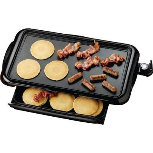 Brentwood Electric Griddle Non-stick Black [ts-840] - 1 Sq. Ft. Cooking Area - Black
