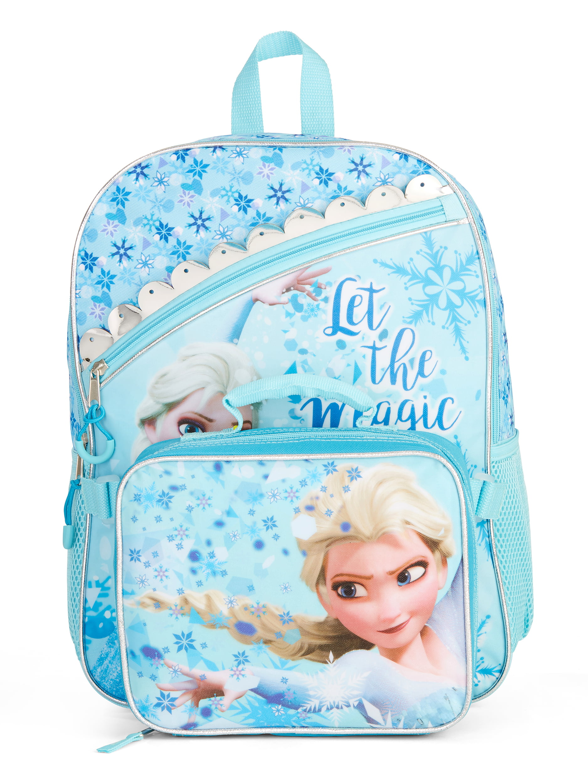 Frozen Icy Elsa Backpack With Lunch