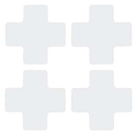 104434 BRADY Polyester Floor Marking Tape,L Shape,5In L,PK20