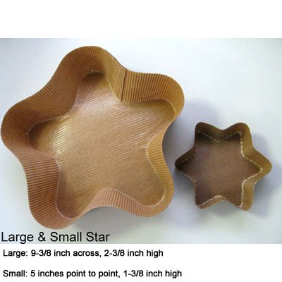 Novacart Star Paper Baking Mold Small, Pack Of -