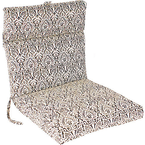 Jordan Manufacturing Outdoor French Edge Chair Cushion, Multiple Patterns