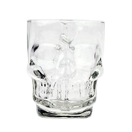 Novelty Glass Skull Face Drinking Mug 18oz Beer Juice Water Drinking Glasses - Novelty Glasses