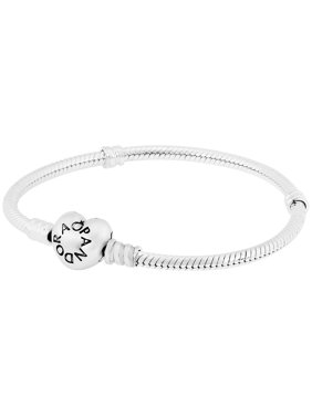 8df298df0 Product Image Moments Silver Bracelet with Heart Clasp 19CM - 590719-19