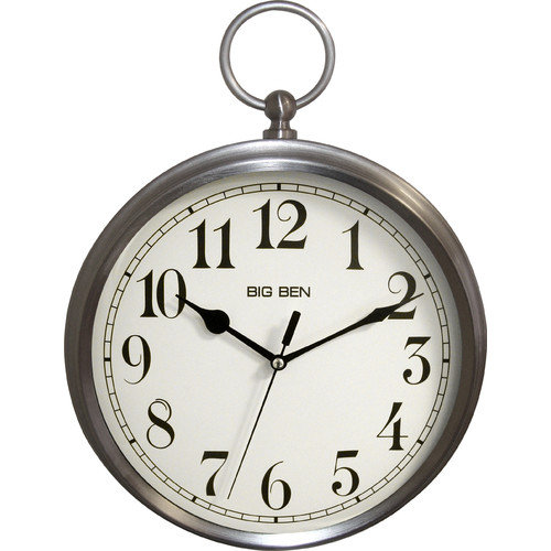 Better Homes And Gardens Pocket Watch Wall Clock Brushed