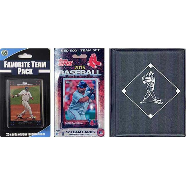 CandICollectables 2015REDSOXTSC MLB Boston Red Sox Licensed 2015 Topps Team Set & Favorite Player Trading Cards Plus Storage Album