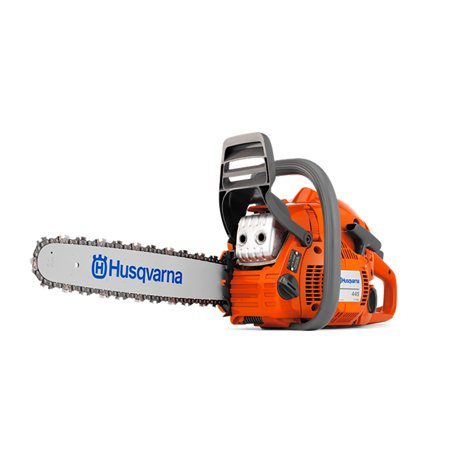Husqvarna 445 Rancher 3/8 Inch Pitch 18 Inch Bar Fast Start Chainsaw 455R-18