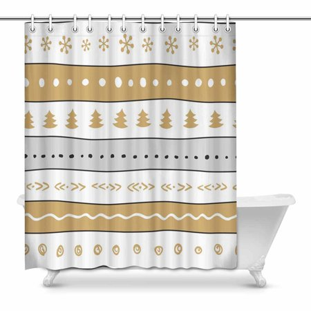 MKHERT Funny Christmas Bathroom Shower Curtain 60x72 Inch