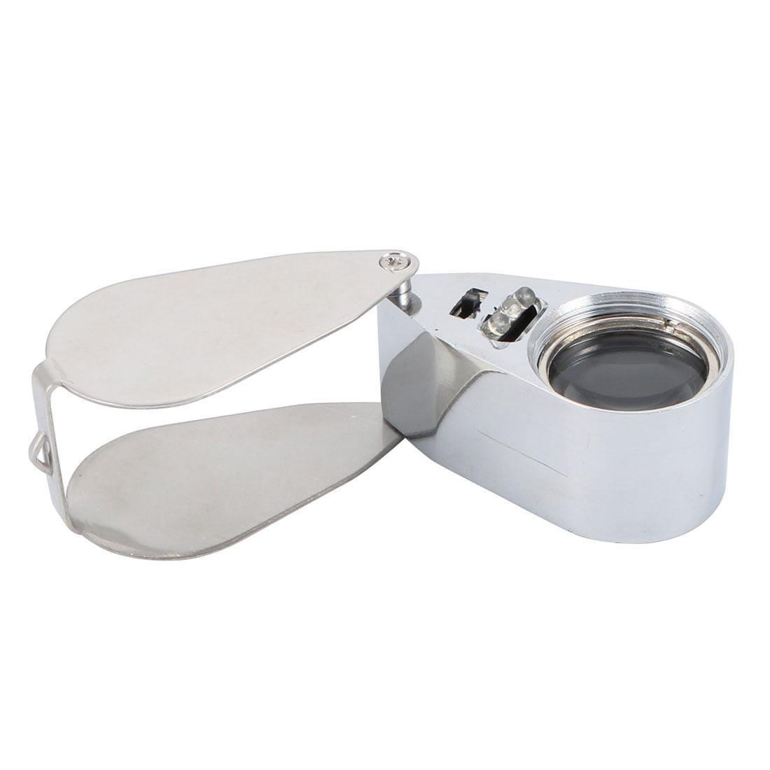 Folding Magnifier 40X Illuminated Magnifying Glass Loupe Lens w LED Light - image 5 of 7