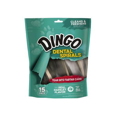 Dingo Dental Tartar and Breath Spirals for Dogs, (Best Way To Treat Bad Breath)