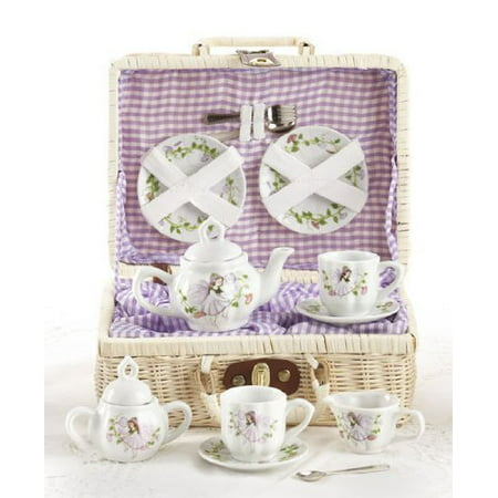 Delton Children's Tea Set with Basket - (Service Basket)