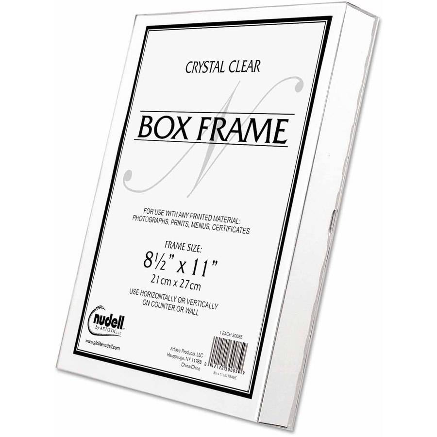 "NuDell Un-Frame Box Photo Frame, Plastic, 8-1/2"" x 11"", Clear"
