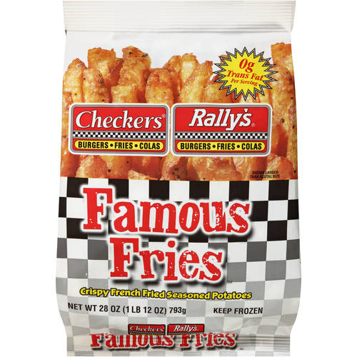 Checkers & Rally's Famous Fries Potatoes Crispy French Fried & Seasoned, 28 oz