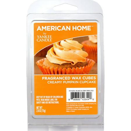 American Home by Yankee Candle Creamy Pumpkin Cupcake 2.6 oz Fragranced Wax Cubes
