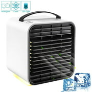 Gohope Humidifier Portable Air Conditioner Fan, Mini Personal Evaporative Air Cooler Small Desktop Cooling Fan, Super Quiet Personal Table Fan Mini Evaporative Air Circulator Cooler