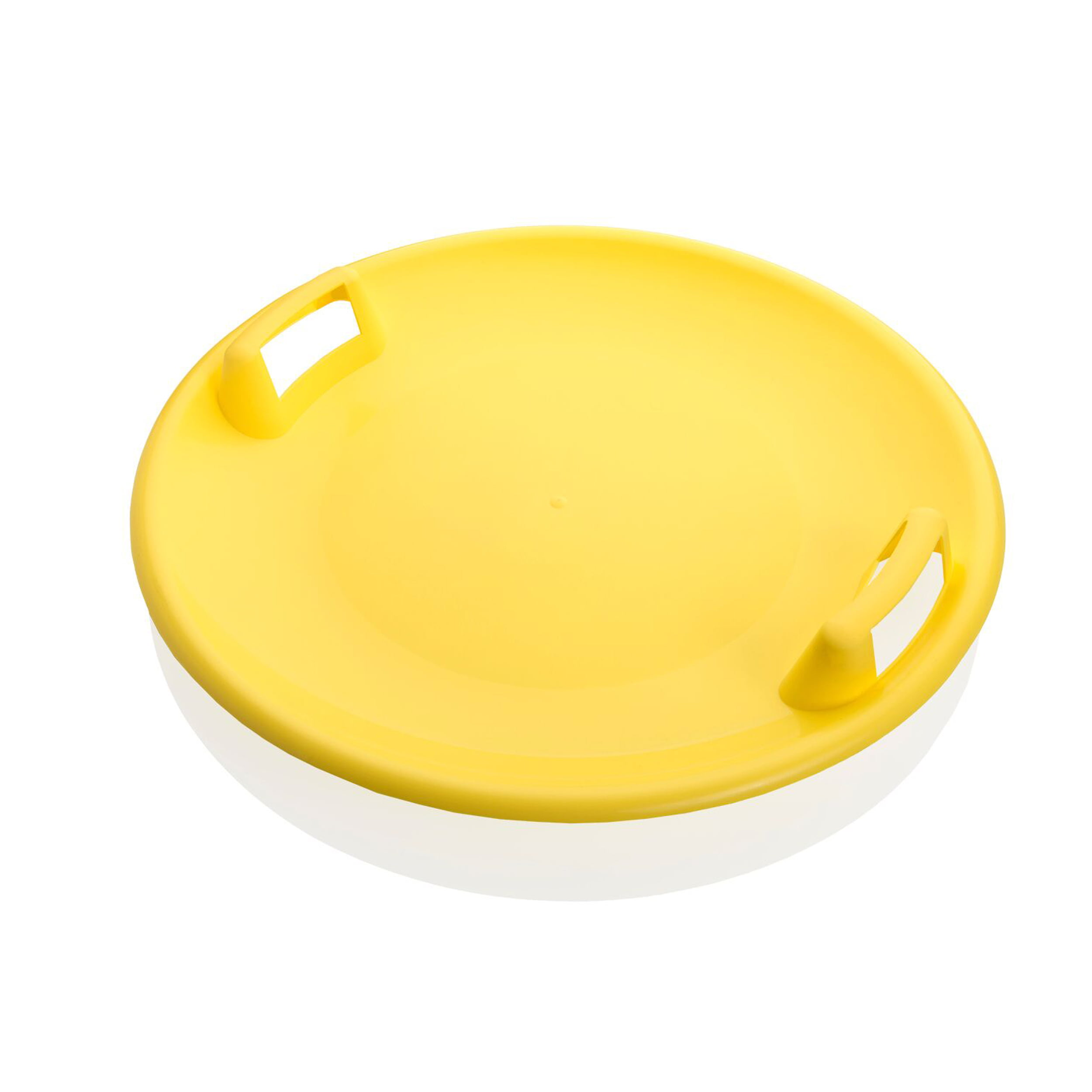 Superstar 24-Inch Saucer Snow Sled for Kids and Adults by Plastkon Yellow by Plastkon