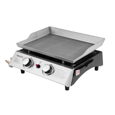 (Royal Gourmet PD1201 BBQ Propane Gas Grill Griddle 2-Burner Tabletop Barbecue Camping)