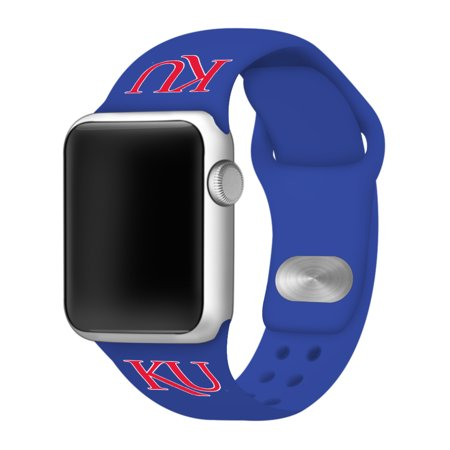 Kansas Jayhawks Silicone Sport Band for Apple Watch - 38mm Royal