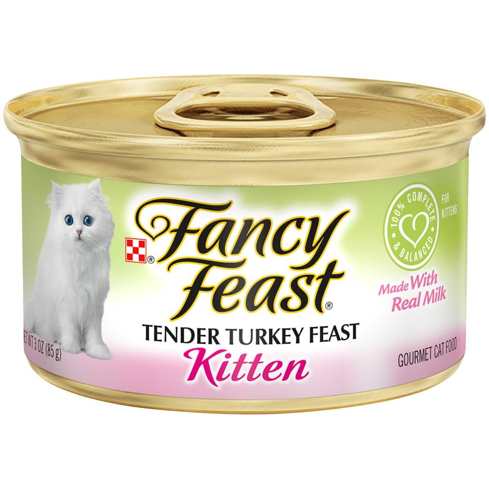 Fancy Feast Pate Wet Kitten Food; Tender Turkey Feast - (24) 3 oz. Can