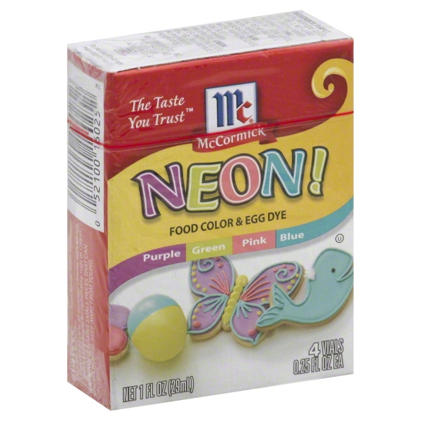 McCormick® Neon Assorted Food Color & Egg Dye, 1 fl oz