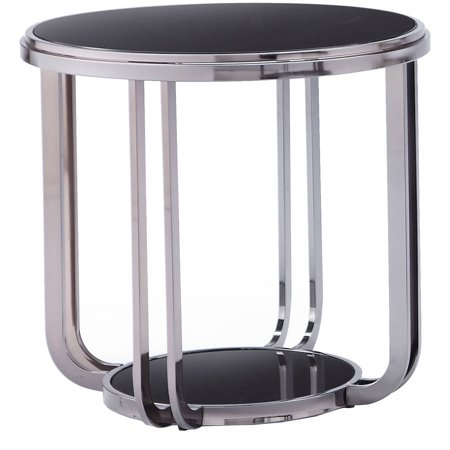 Chelsea Lane Black Nickel Plated End Table