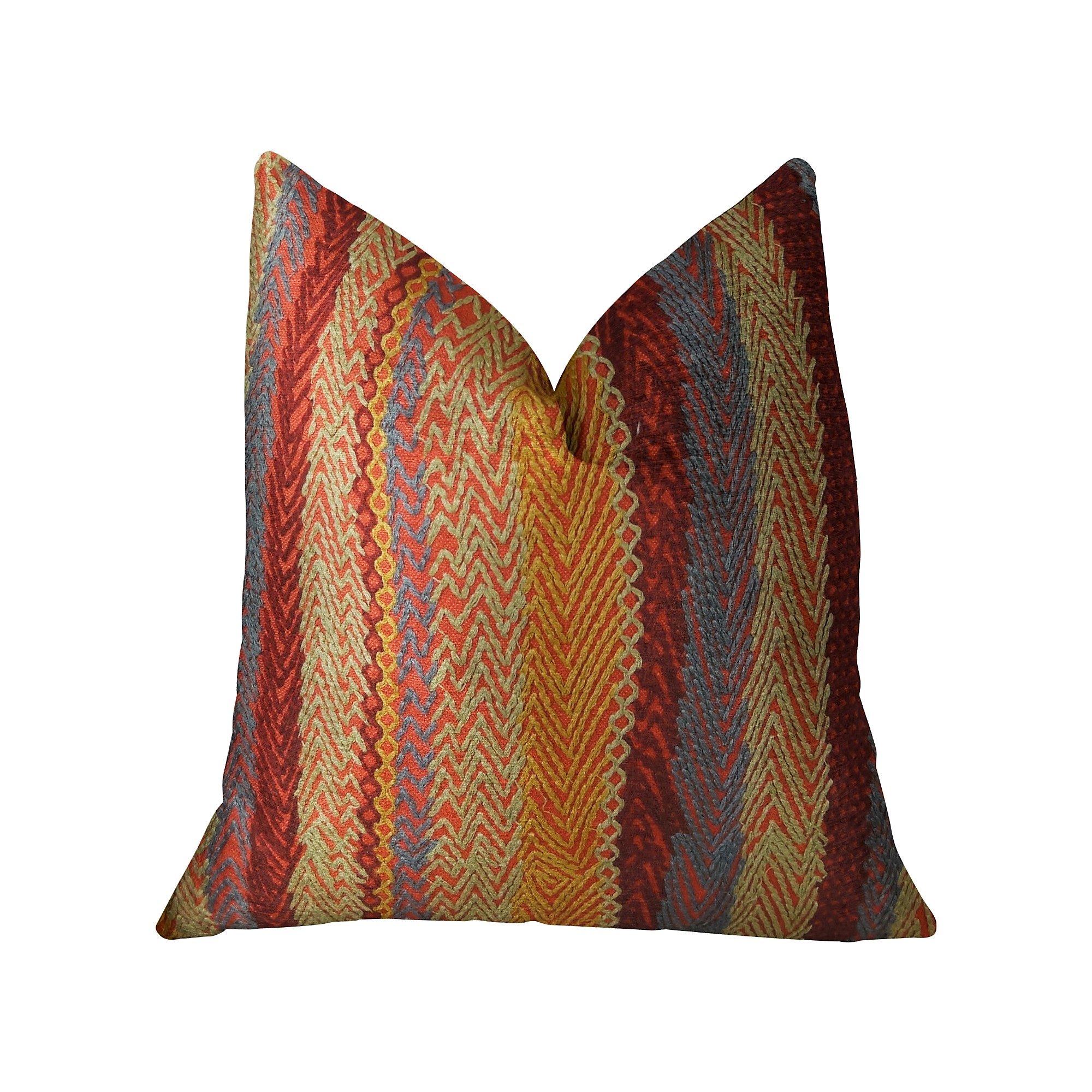 Plutus Red Earth Handmade Throw Pillow, Double Sided