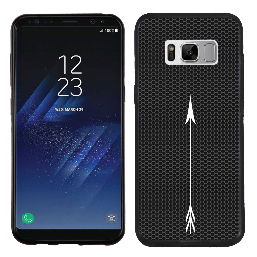 Slim-Fit Case for Samsung Galaxy S8, OneToughShield ® Premium TPU Gel Phone Case (Black Bezel) - Arrow