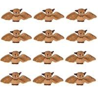 "Wildlife Tree 12 Pk Bats Mini 4"" Small Stuffed Animals, Bulk Bundle Zoo Animal Toys, Forest Party Favors for Kids"