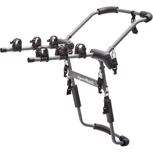 SportRack SR3141 Drafter 3 Rear Mount Bike Carrier, 3-Bikes, Granite Gray