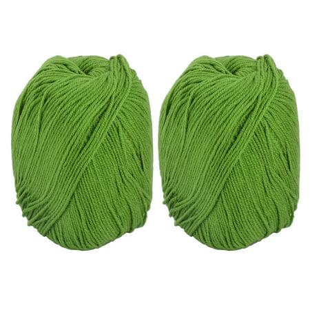 Family Sewing Knitting Yarn Rope Cord Lawn Green 100g 2pcs Green Spring Knitting Yarn