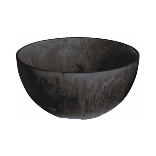Novelty Hardware 31128 Napa Bowl Planter, Black, 12-In.