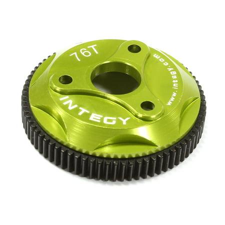 Integy RC Toy Model Hop-ups T8008GREEN 76T Metal Spur Gear for Traxxas Stampede 2WD, Rustler & (Traxxas Rustler Parts)
